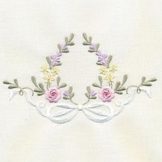Wonderful Ribbon Embroidery Flowers by Hand Ideas. Enchanting Ribbon Embroidery Flowers by Hand Ideas. Embroidery On Clothes, Baby Embroidery, Machine Embroidery Applique, Silk Ribbon Embroidery, Hand Embroidery Designs, Custom Embroidery, Vintage Embroidery, Floral Embroidery, Embroidery Stitches