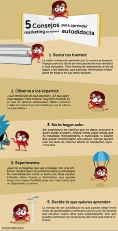 #Infografía 5 consejos para aprender #marketing de manera autodidacta #CreatividadQueConquista