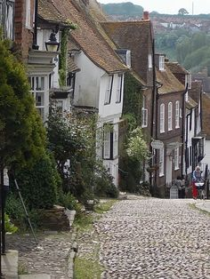 Mermaid Street in Rye, East Sussex, Rye is said to be the most haunted town in England and has the most historical buildings in all of the UK, If you are ever in this part of the world it's not to be missed (photo by me)