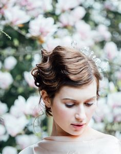 A Dreamy Blossom Filled Spring Bridal Shoot with a Touch of Art Deco Elegance