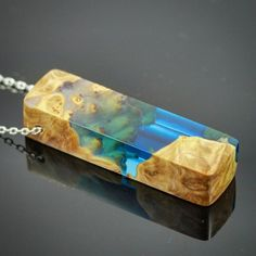 Blue resin and burl: