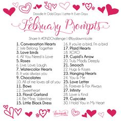 Feb lettering art journal prompts, sketch journal, journal challenge, a Art Journal Challenge, Art Journal Prompts, Sketch Journal, Writing Challenge, Art Journals, Journal Ideas, Bullet Journals, Writing Prompts, February Challenge