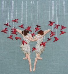Michelle Kingdom Embroideries creates tiny, stitched scenes that aim to unravel our inner perceptions.