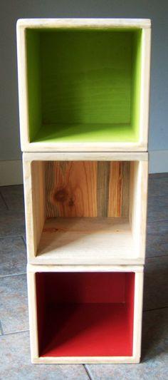 children's storage chair cubes.