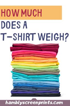 How Much Does a T-shirt Weigh? Cricut, T Shorts, Text Style, Vinyl Cutting, Colour List, Personalized T Shirts, Casual Elegance, Fruit Of The Loom, Selling Online