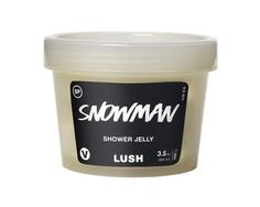 Snowman Shower Jelly: Made with a refreshing and sweet scent, we've added buchu, bergamot and Sicilian lemon oils for an extra mood boost. Seaweed and glycerin help this glide over your skin, leaving it soft, clean and smelling as fresh as a sunny winter's day. Lush Cosmetics, Handmade Cosmetics, Best Smelling Body Wash, Lush Shower Gel, Lush Christmas, Christmas 2016, Shower Jellies, Lush Fresh, Body Cleanser