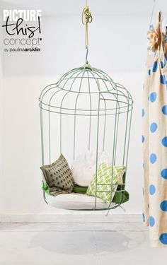 Bird cage swing chair   Daydreaming