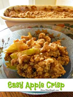 Start your fall bucket list with a check mark by this easy apple crisp recipe.