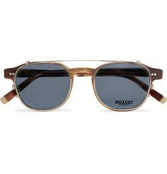 Moscot - Arthur Round-Frame Tortoiseshell Acetate Optical Glasses with Clip-On UV Lenses - Men - Tortoiseshell Fashion Eye Glasses, Four Eyes, Optical Glasses, Round Frame, Mens Glasses, Prescription Lenses, Tortoise Shell, Sunglasses Accessories, Eyewear