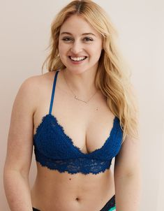 1180f64801ce Aerie Romantic Lace Padded Bralette, Lagoon | Aerie for American Eagle  Padded Bralette, Romantic