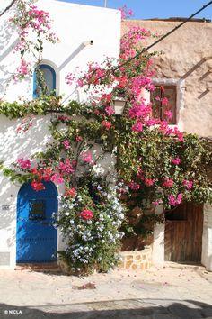 De smukkeste blomsterklædte huse i #Mojacar #Spanien