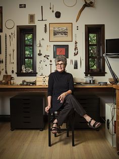 The studio jeweler, professor emerita at the University of the Arts, and ACC Fellow shares her thoughts. Dream Studio, Home Studio, Studio Spaces, Small Workspace, Home Office, Workshop Studio, Sewing Studio, American Crafts, My New Room