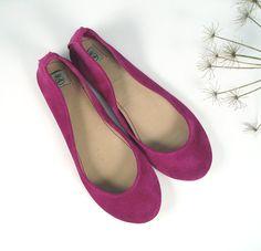 Ciclamino Handmade Leather Ballerina Flats by elehandmade on Etsy, $98.00