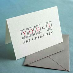 You And I Are Chemistry - Letterpress Card - Nerd Love Series - Valentines Day Gift Ideas Diy Gifts Nerds, Love Cards, Diy Cards, Diy Birthday, Birthday Cards, Valentine Day Gifts, Valentines, Nerd Love, Diy Gifts For Boyfriend