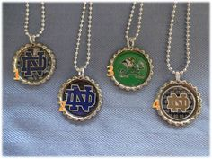Notre Dame Fighting Irish Bottle Cap Necklace Pendant College Football on Etsy, $4.95