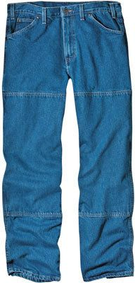 Williamson Dickie Mfg Workhorse Jeans, Stonewash Denim, Relaxed Fit, Double Knee, Men's 40 x 3 Ripped Jeans Men, Parachute Pants, Denim Shorts, Just For You, Stylish, Fitness, Fashion, Moda, Fashion Styles