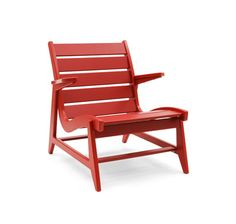 Red rapson lounge low back from Loll Designs is a great piece of furniture!