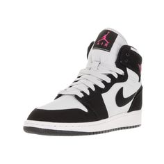 Nike Jordan Kids' Air Jordan 1 Retro High Pure Platinum, Vivid Pink,,