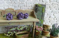 RÉSERVÉ Plante verte Miniature 3 Fleurs Hortensias
