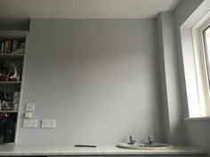 Dulux goose down - utility room? Grey Hallway Paint, Dulux Grey Paint, Grey Paint Colors, Bathroom Paint Colors, Paint Colors For Living Room, Paint Colors For Home, Grey Walls, Dulux Kitchen Paint, Hallway Colours