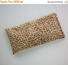 SALE -- Aromatherapy Eye Pillow - lavender / flax seeds - Cheetah animal print - yoga mask - spa sleep relaxation stress relief - coworker t