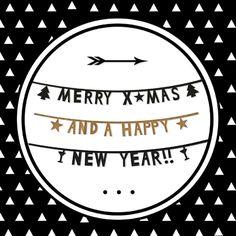 Kerst Zwart Wit Driehoekjes, verkrijgbaar bij #kaartje2go voor € 1,89