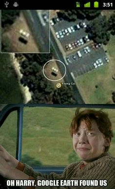 Harry Potter is a fake world, but who says it can't intersect with the real world? Here are 15 times people have spotted Harry Potter people and object Humour Harry Potter, Harry Potter Fandom, Harry Potter World, Harry Potter Flying Car, Sassy Harry Potter, Harry Potter Stuff, Harry Potter Memes Clean, Harry Potter Facts, Harry Potter Characters