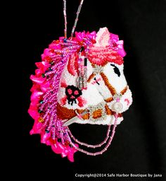 Lady Pirate.  Christmas Ornament.  Pirate Horse.