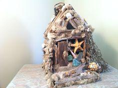 Beach fairy house