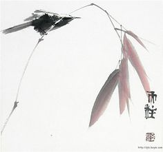 Sumi-e painting by Qin Tianzhu, China Sumi E Painting, Japan Painting, Chinese Painting, Japanese Watercolor, Art Chinois, Art Asiatique, Ink In Water, Tinta China, Art Japonais