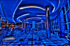 The  Bleau bar at the Fountainebleau hotel. After a sumptuous 1 billion dollar renovation, the Fountainebleau Hotel is now considered the most luxurious hotel in Miami Beach. Photo: Looking for George Jetson by Photomike07 / MDSimages.com, via Flickr