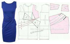 .robe à pli asymétrique