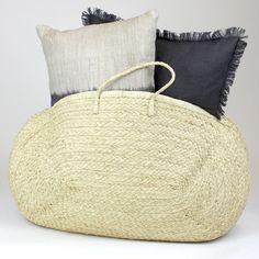Raffia Overnight Bag handcrafted in Madagascar using locally harvested raffia and artisan talent