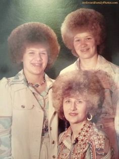 A family that perms together stays together. At least the 3 of you look a LITTLE bit better...