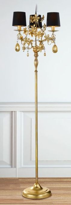 Three Light Black And Gold Italian Floor Lamp 913 12 Find Out More At