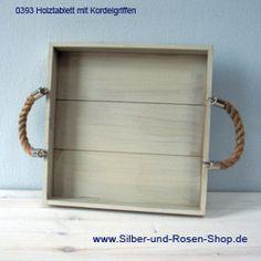 Holztablett mit Kordelgriffen 30 cm online bestellen