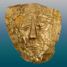 Gold Mask, 6-5 century BC. Found at Trebenište, IX grave. The National Museum in Belgrade