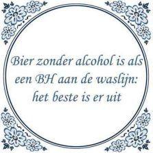 Bier zonder alcohol...