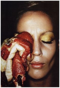"""Helmut Newton, Jerry Hall, """"A cure for a black eye"""", 1974"""
