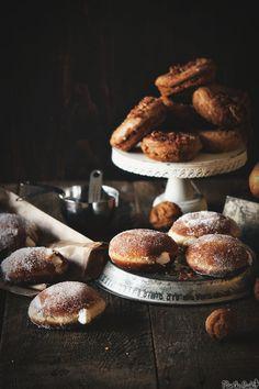 Irish Cream Filled Doughnuts