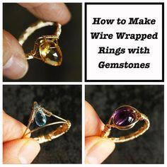 Clay Jewelry, Jewelry Crafts, Beaded Jewelry, Jewelry Ideas, Beaded Rings, Agate Jewelry, Diy Crystal Rings, Wire Jewelry Rings, Diy Rings