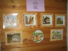 Opon Kädentaitajien näyttelyssä omia eläinaiheisia maalauksiani
