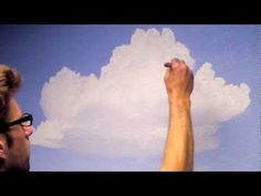 How to Paint Clouds in a Room - Mural Joe - YouTube.  Even though this is for a mural, the techniques are great for acrylics and there is really good information on make up of clouds so you understand why you should paint them certain ways.