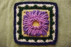 "Chrysanthemum - Free 12"" Crochet Square Pattern by Funny dieBarbarin"