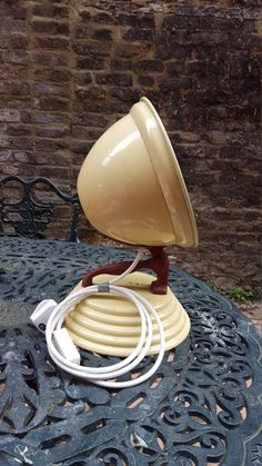 Converted art deco barber heat lamp  PAT tested by SW2Vintage