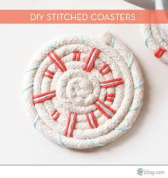 A custom handmade coaster that can be made in under five minutes! Tutorial via Blitsy!