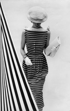 Love nautical stripes! - Cecil Beaton - Women's vintage fashion history photo photography images