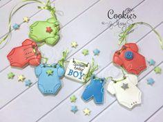 Cookies by Missy Sue Baby Girl Cookies, Onesie Cookies, Baby Shower Cookies, Kinds Of Cookies, Gift From Heaven, Edible Art, Baby Boy Shower, Baby Showers, Cupcake Cakes