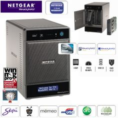 NETGEAR RNDU4000 ReadyNAS Ultra 4, 4-bay Network Attached Storage zonder schijven! Van € 799,95 voor € 349,95