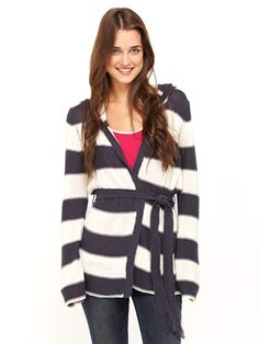 Pair this wide-striped sweater with a silky camisole for a seductive date look that's pretty but warm.$64.50; roxy.com Courtesy of Roxy -Cosmopolitan.com